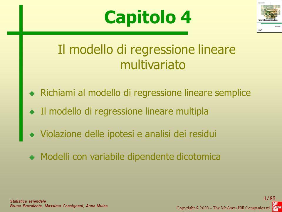 Il modello di regressione lineare multivariato