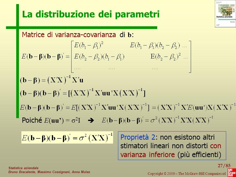 La distribuzione dei parametri