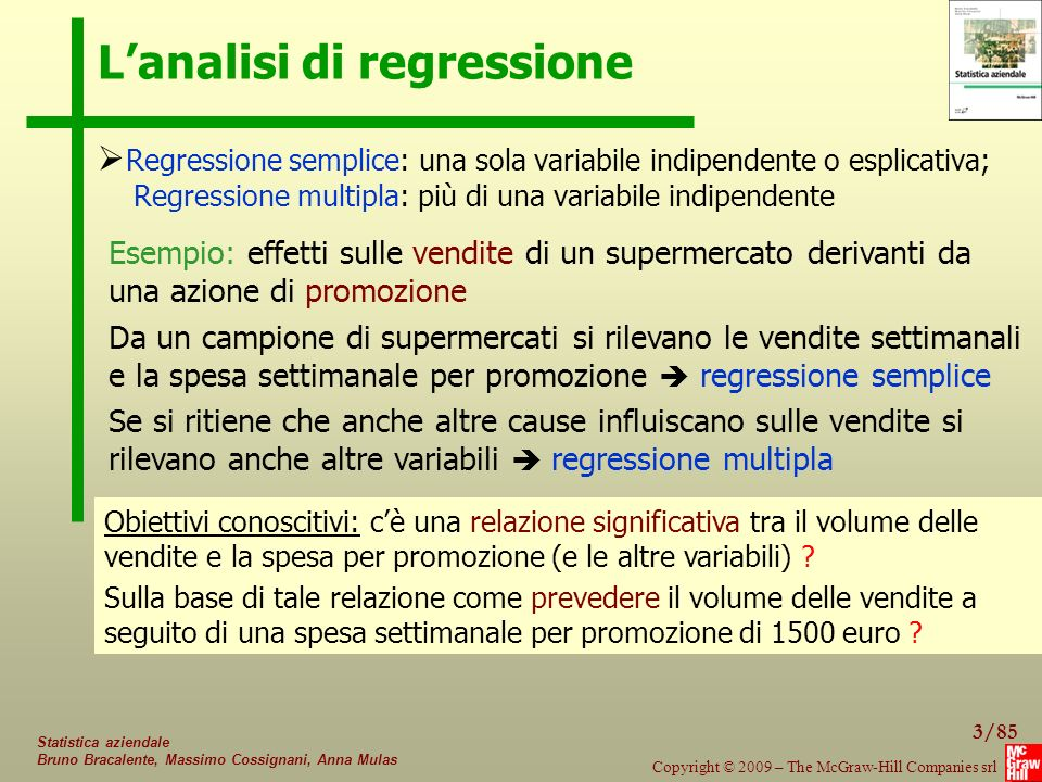 L'analisi di regressione