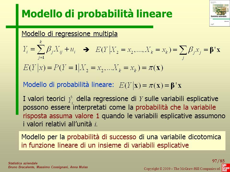 Modello di probabilità lineare