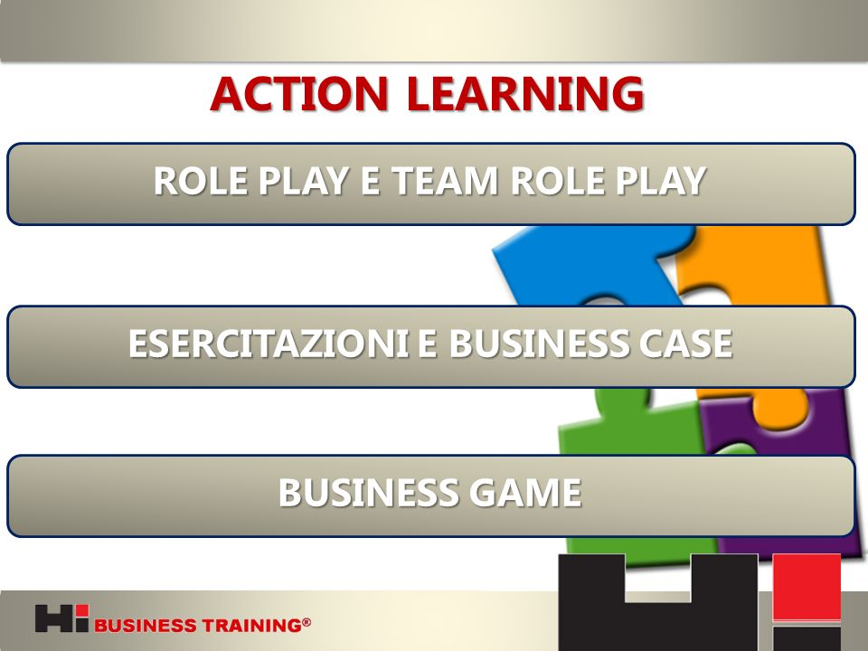 ROLE PLAY E TEAM ROLE PLAY ESERCITAZIONI E BUSINESS CASE