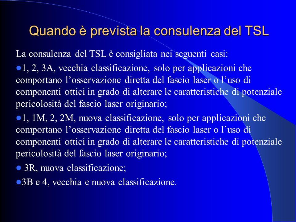 Quando è prevista la consulenza del TSL