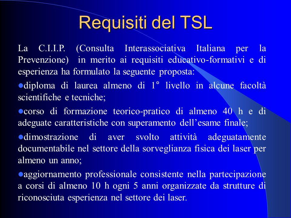 Requisiti del TSL