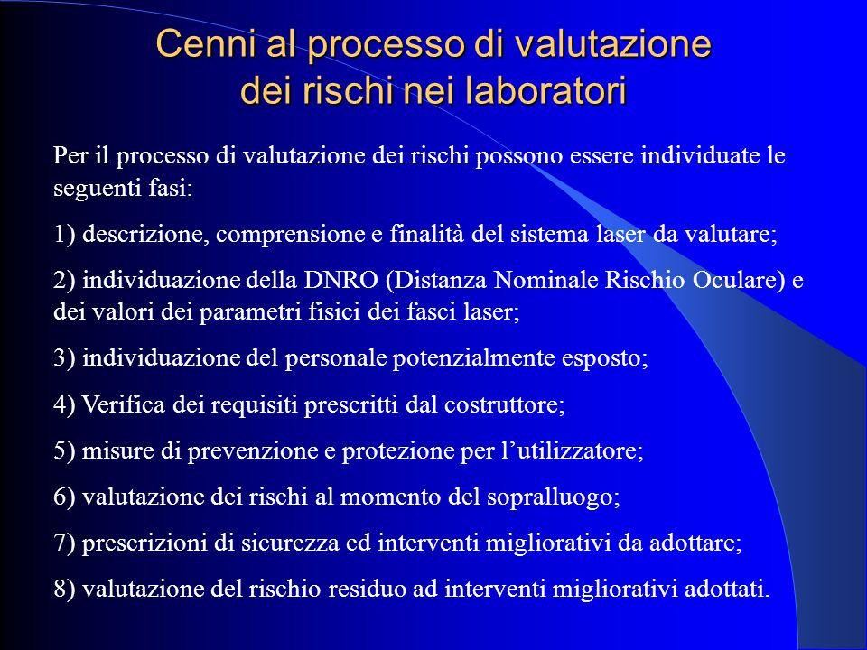 Cenni al processo di valutazione dei rischi nei laboratori