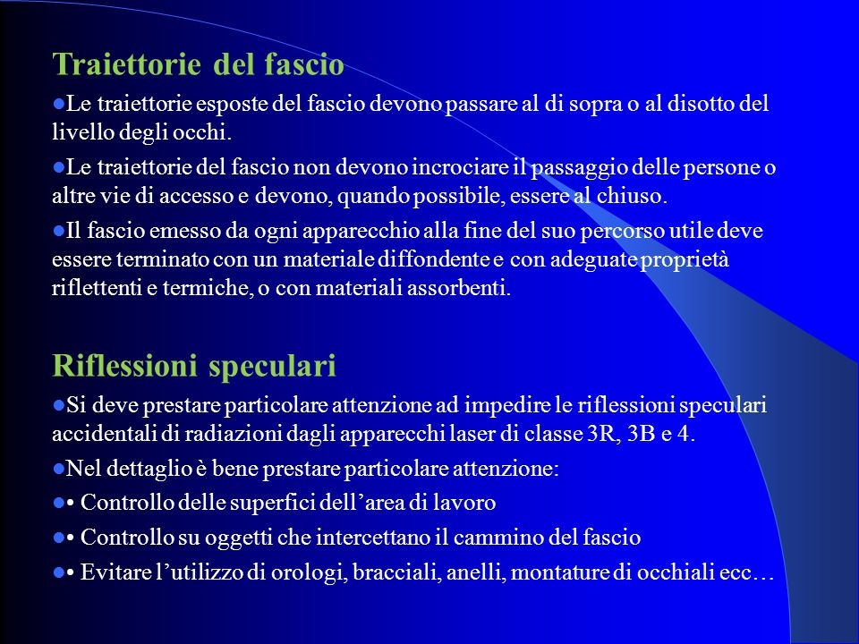 Traiettorie del fascio