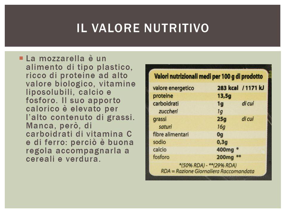 Il valore nutritivo