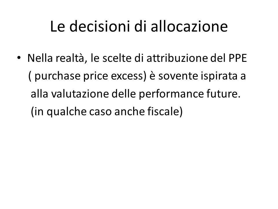 Le decisioni di allocazione