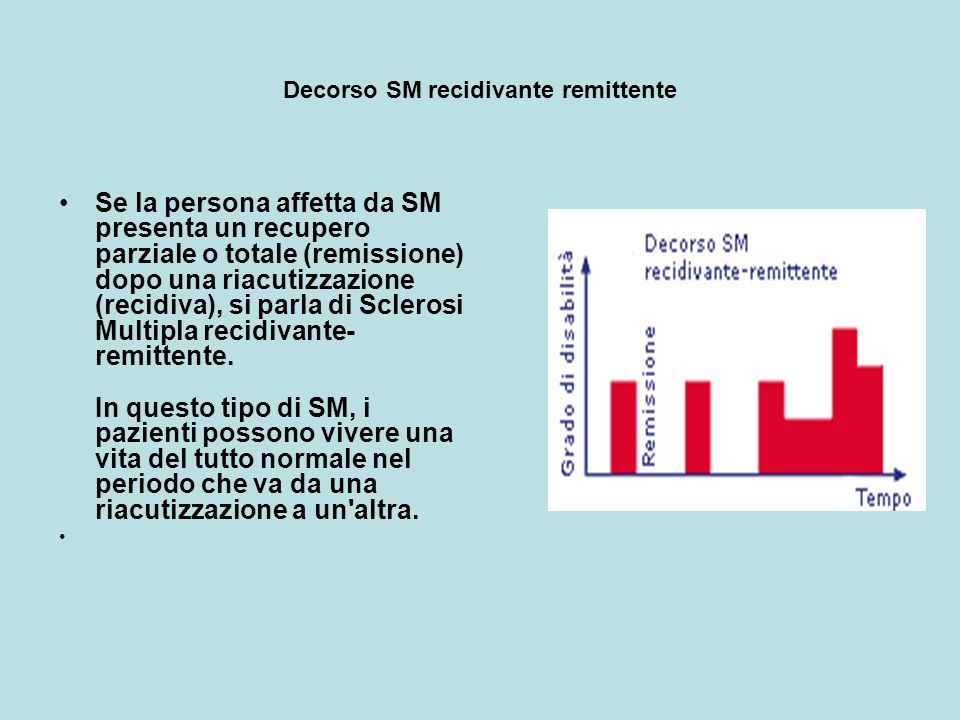 Decorso SM recidivante remittente