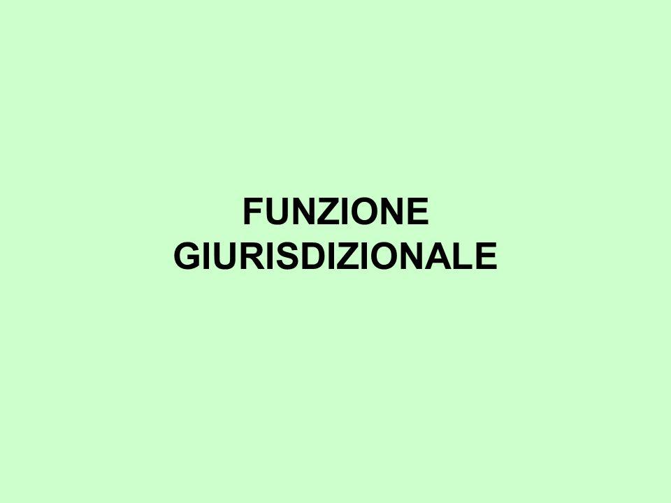 FUNZIONE GIURISDIZIONALE