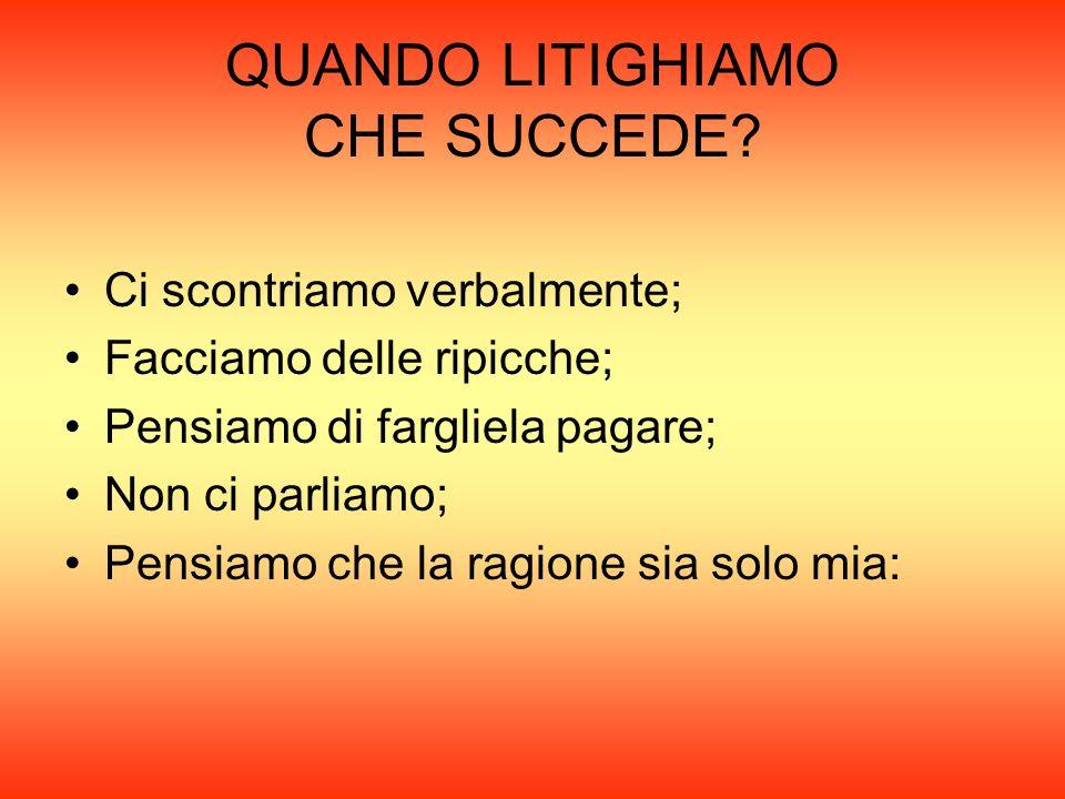 QUANDO LITIGHIAMO CHE SUCCEDE
