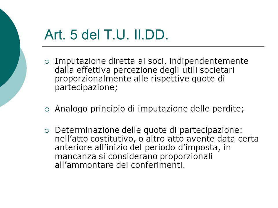 Art. 5 del T.U. II.DD.