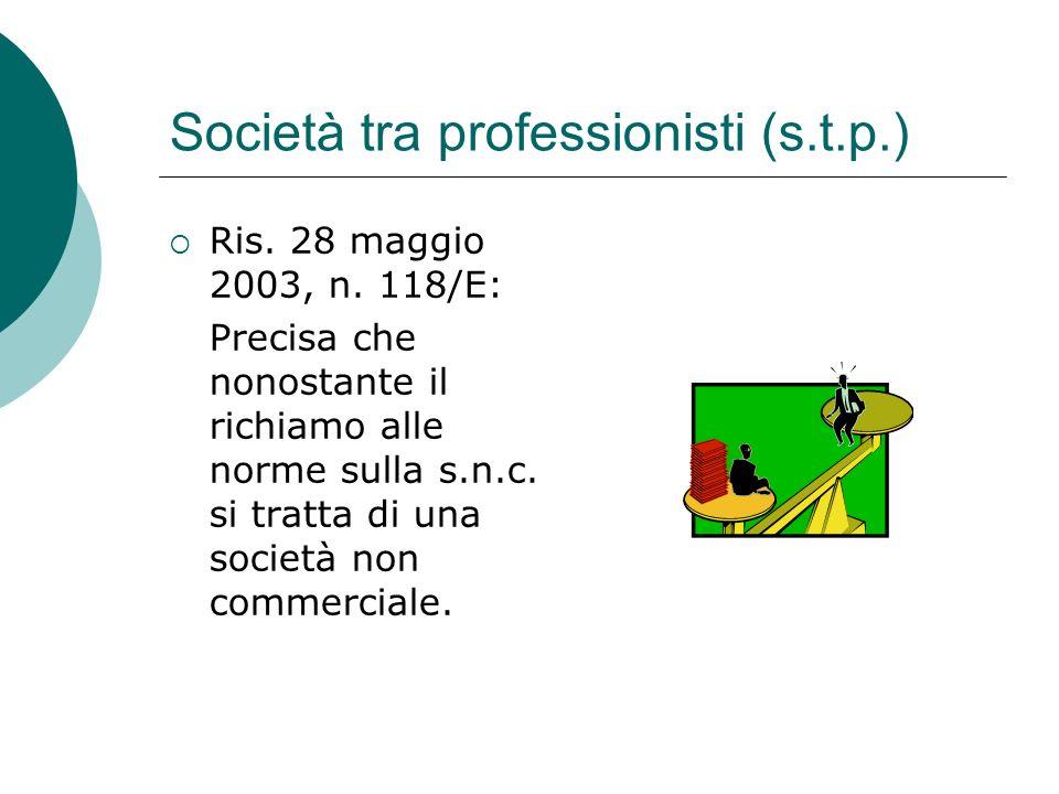 Società tra professionisti (s.t.p.)