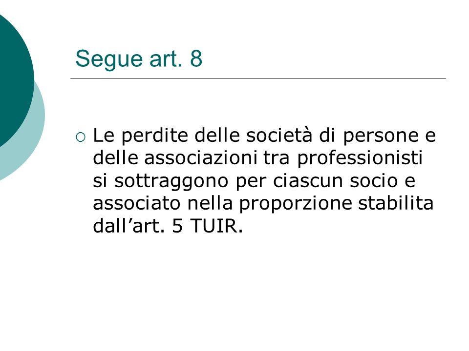 Segue art. 8