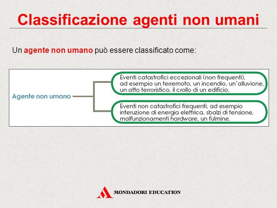 Classificazione agenti non umani
