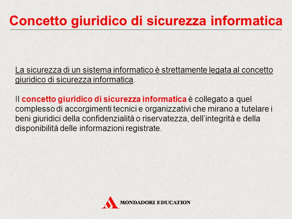 Concetto giuridico di sicurezza informatica