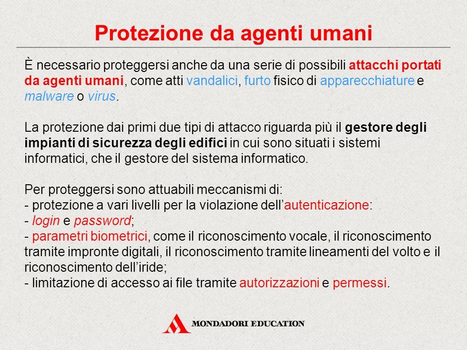 Protezione da agenti umani