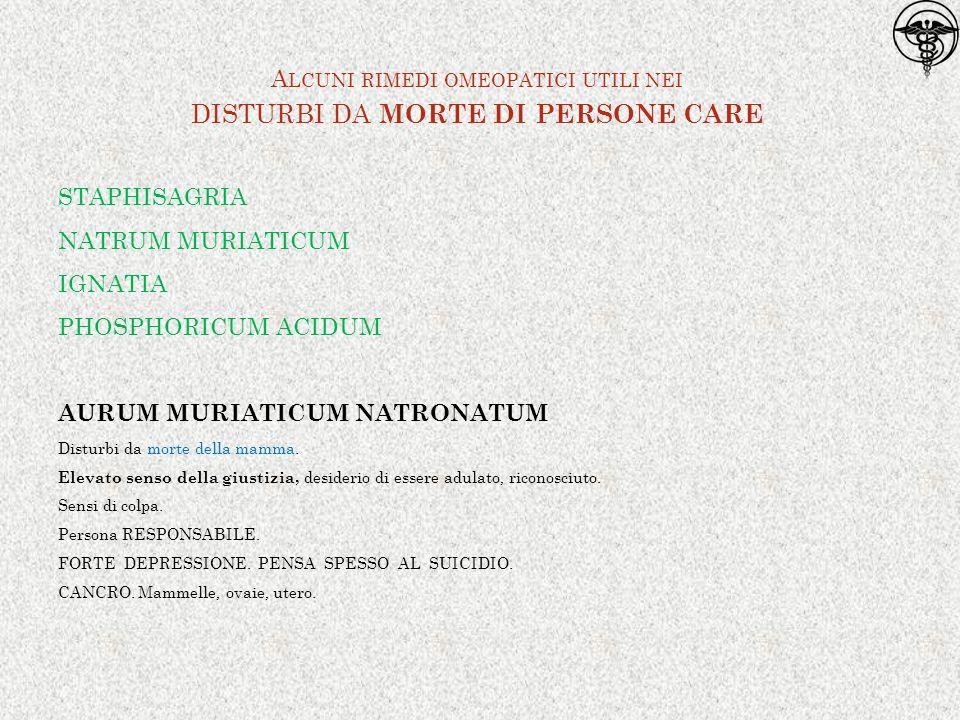 Alcuni rimedi omeopatici utili nei disturbi da morte di persone care
