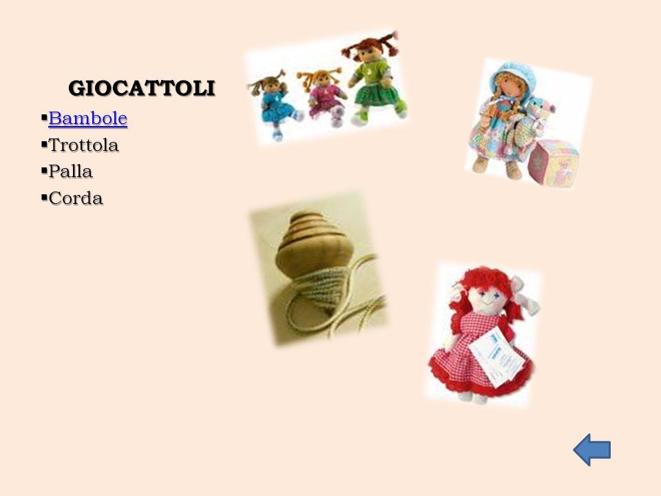 GIOCATTOLI Bambole Trottola Palla Corda