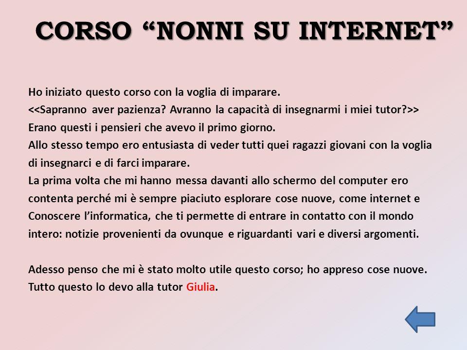 CORSO NONNI SU INTERNET
