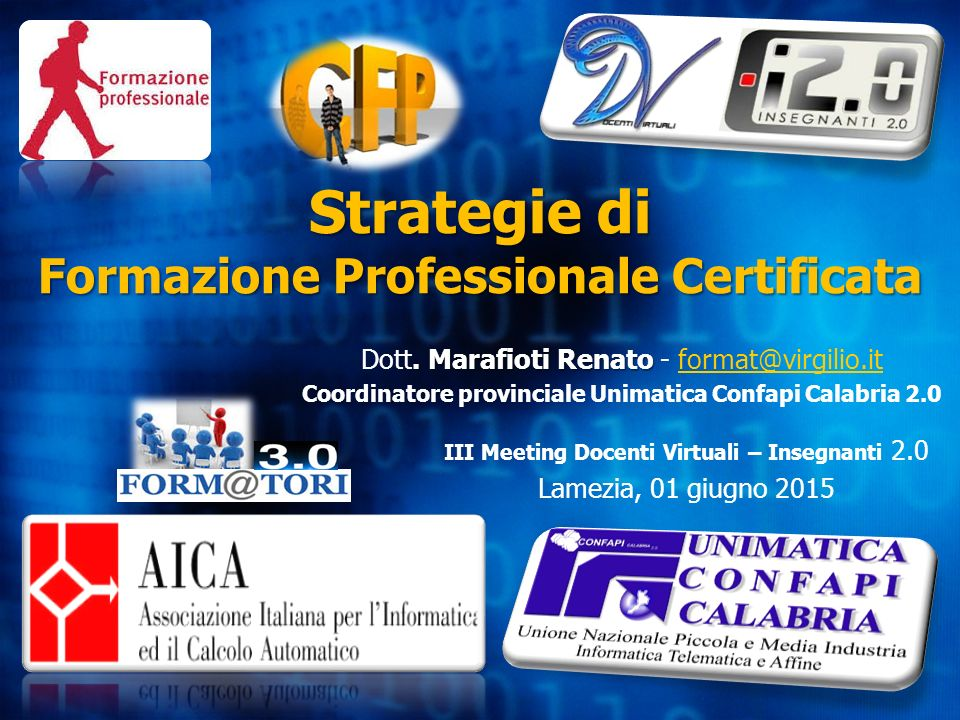 Strategie di Formazione Professionale Certificata
