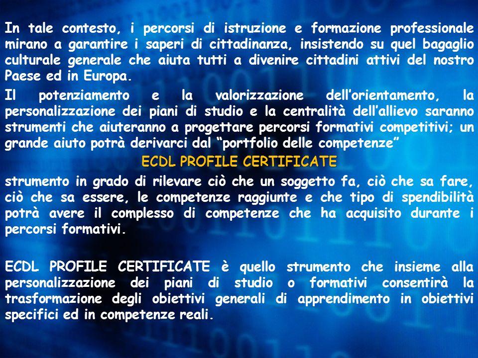 ECDL PROFILE CERTIFICATE