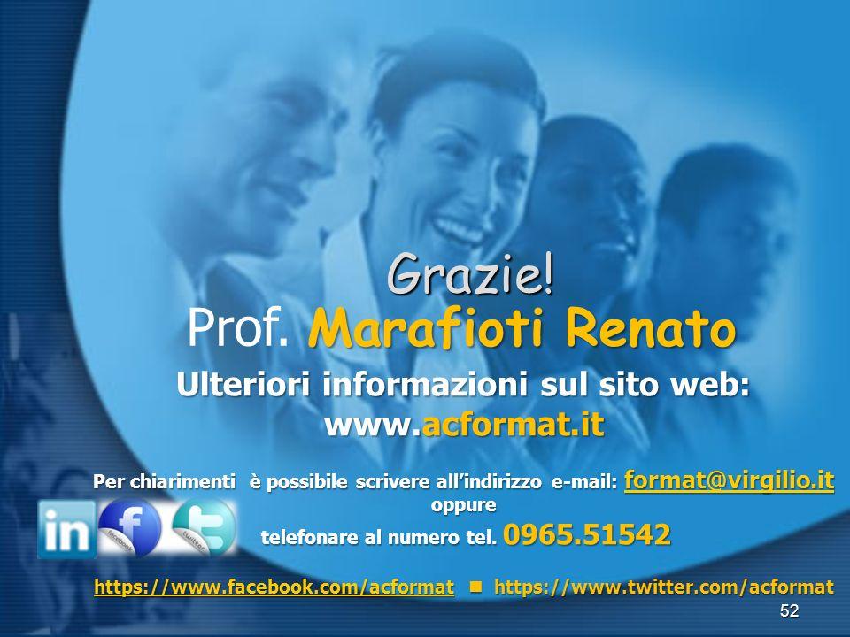 Grazie! Prof. Marafioti Renato