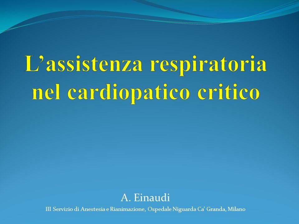L'assistenza respiratoria nel cardiopatico critico