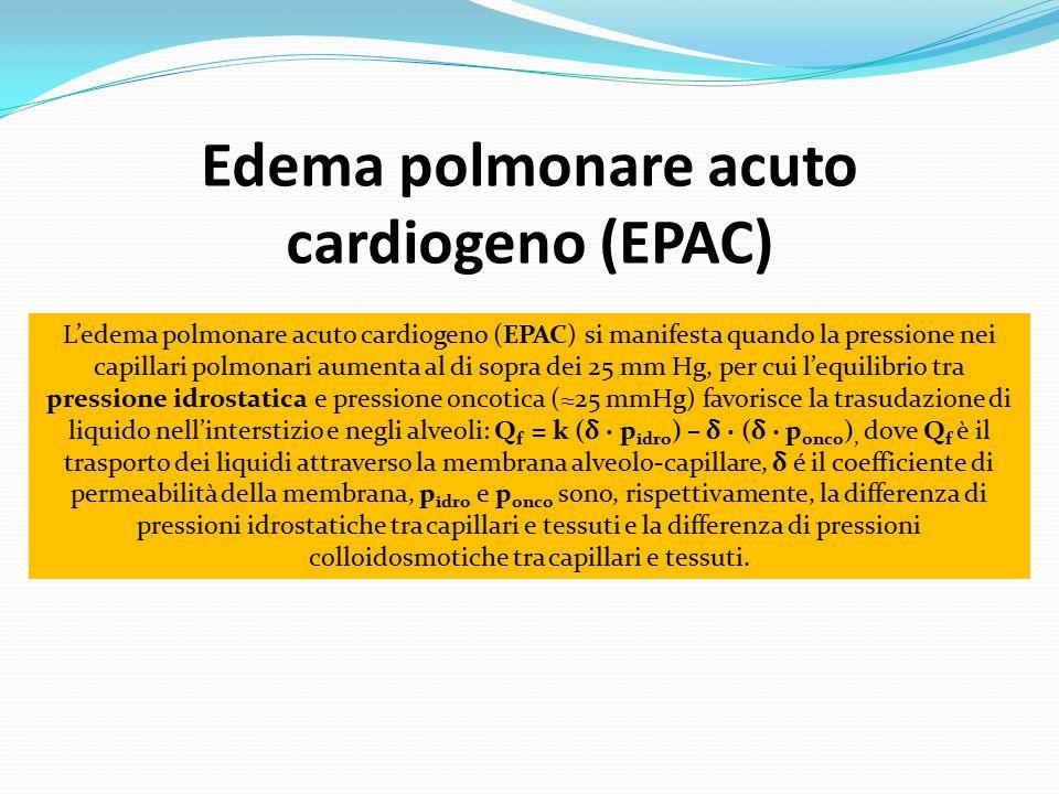 Edema polmonare acuto cardiogeno (EPAC)