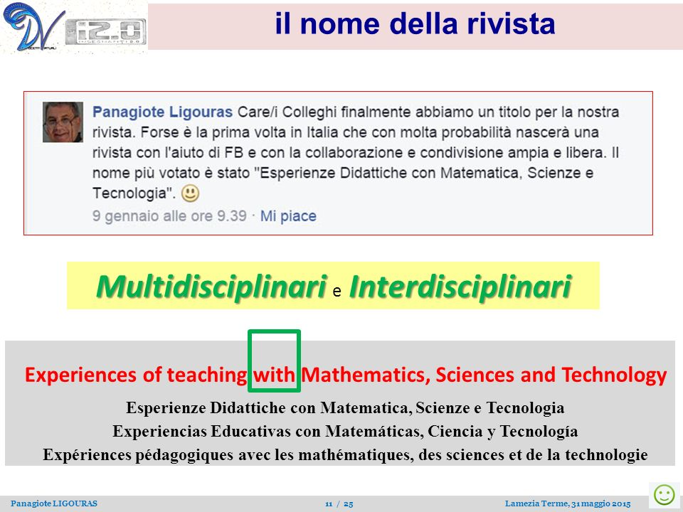 Experiences of teaching with Mathematics, Sciences and Technology
