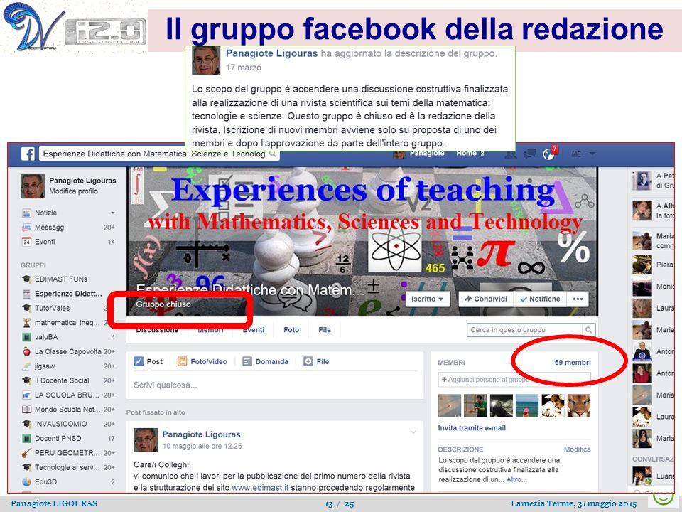 Il gruppo facebook della redazione