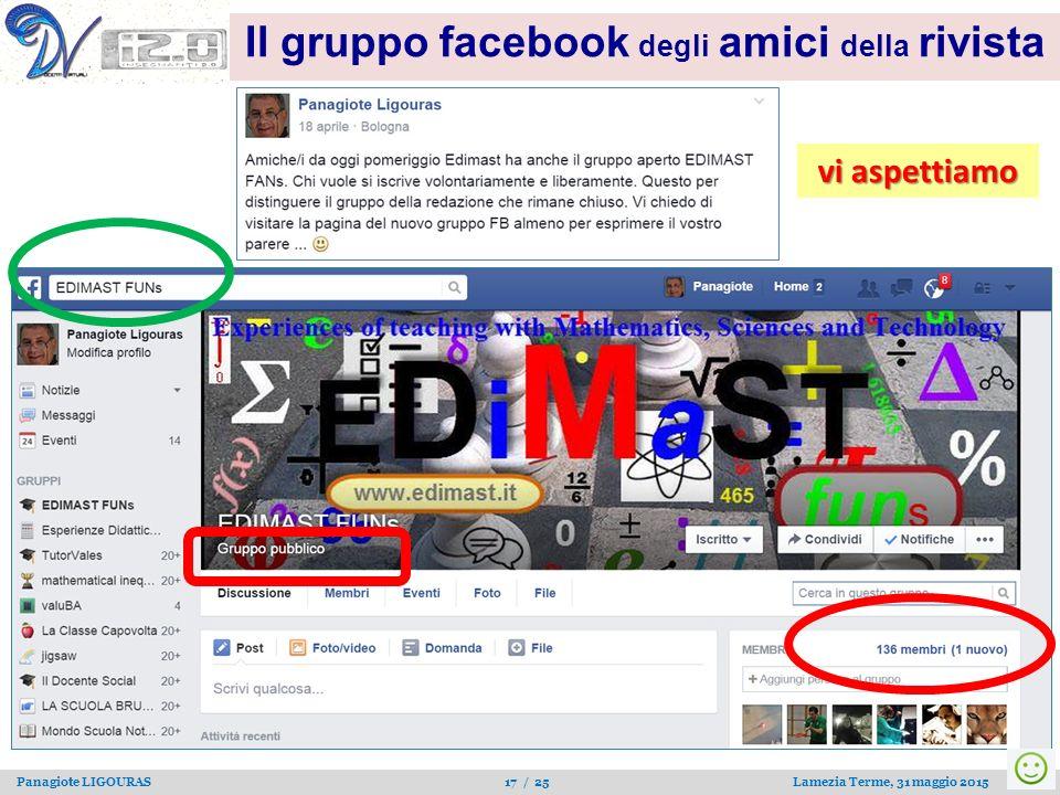 Il gruppo facebook degli amici della rivista