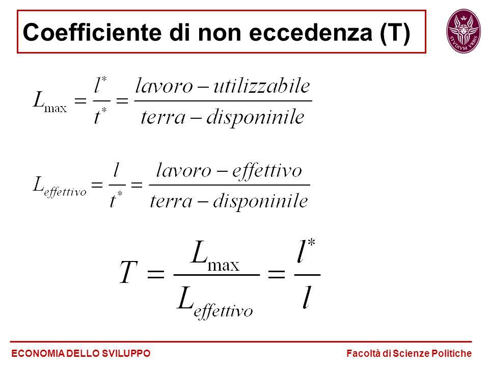 Coefficiente di non eccedenza (T)