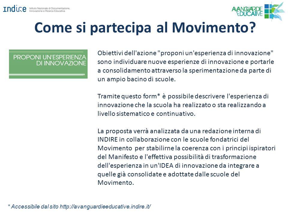 Come si partecipa al Movimento