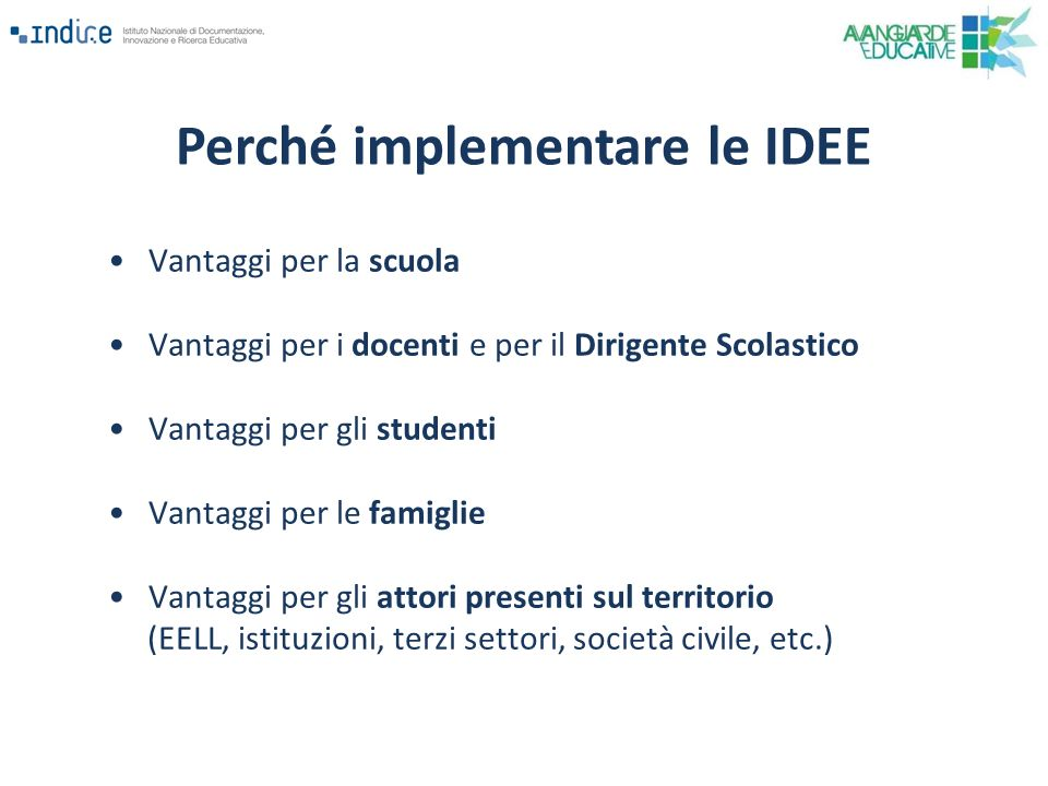 Perché implementare le IDEE
