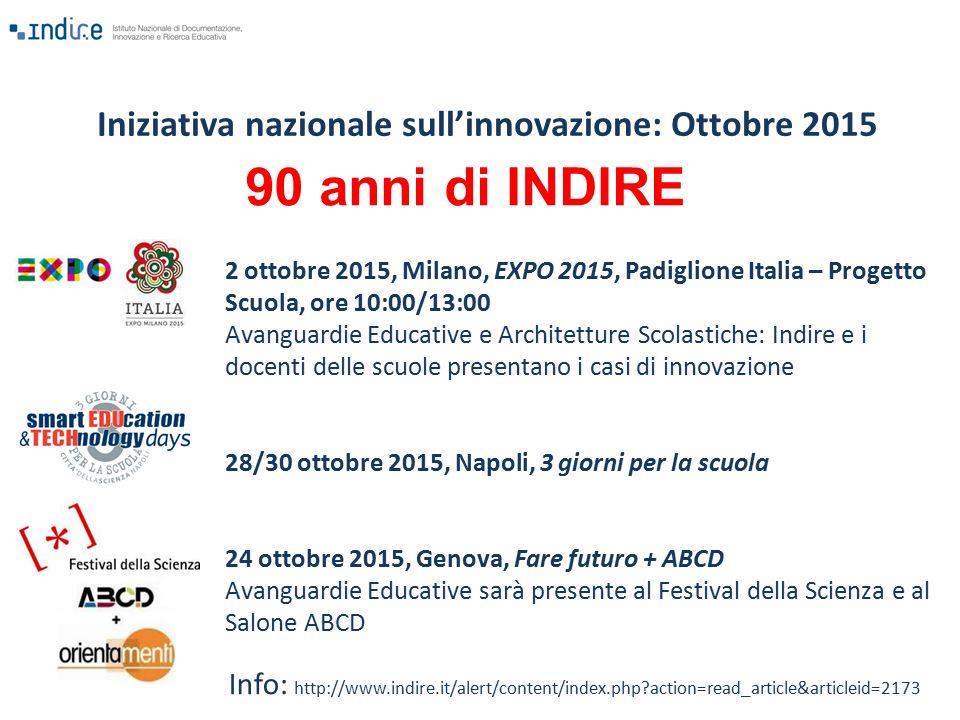 Iniziativa nazionale sull'innovazione: Ottobre 2015