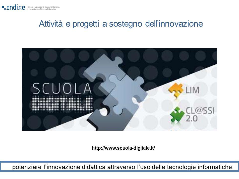 Attività e progetti a sostegno dell'innovazione