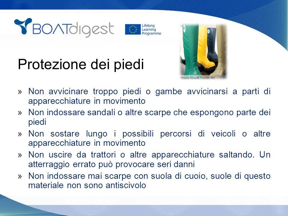 Protezione dei piedi Non avvicinare troppo piedi o gambe avvicinarsi a parti di apparecchiature in movimento.