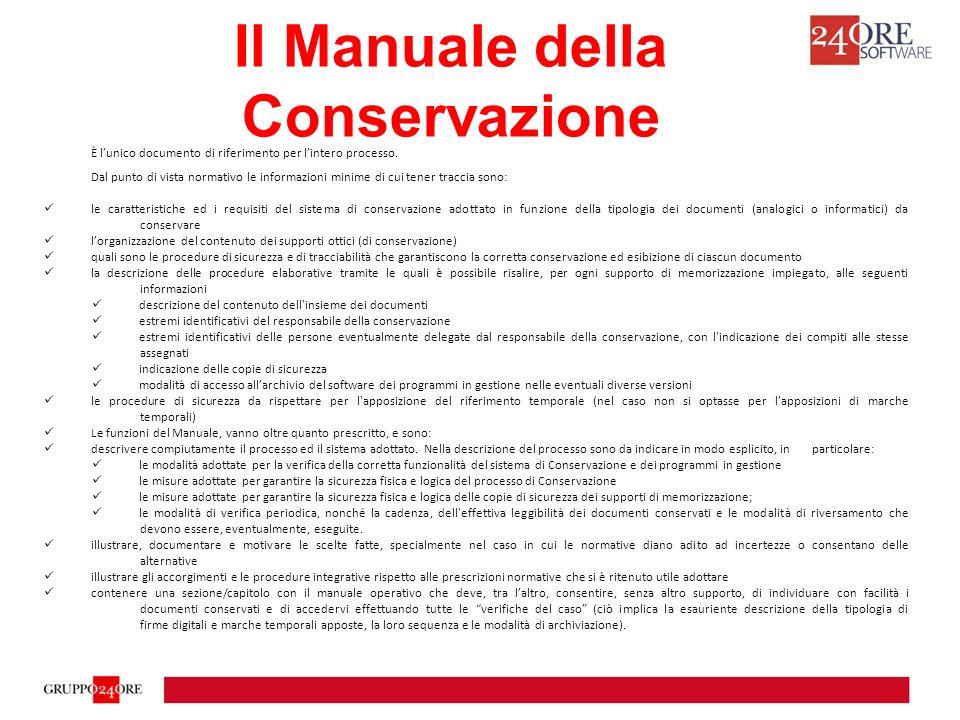 Il Manuale della Conservazione