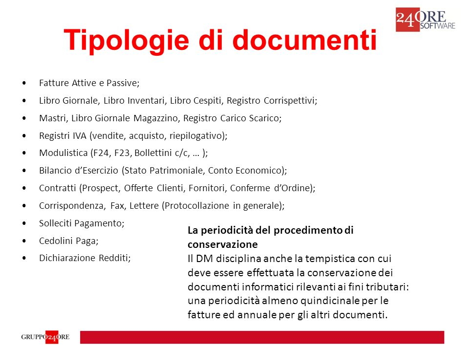 Tipologie di documenti