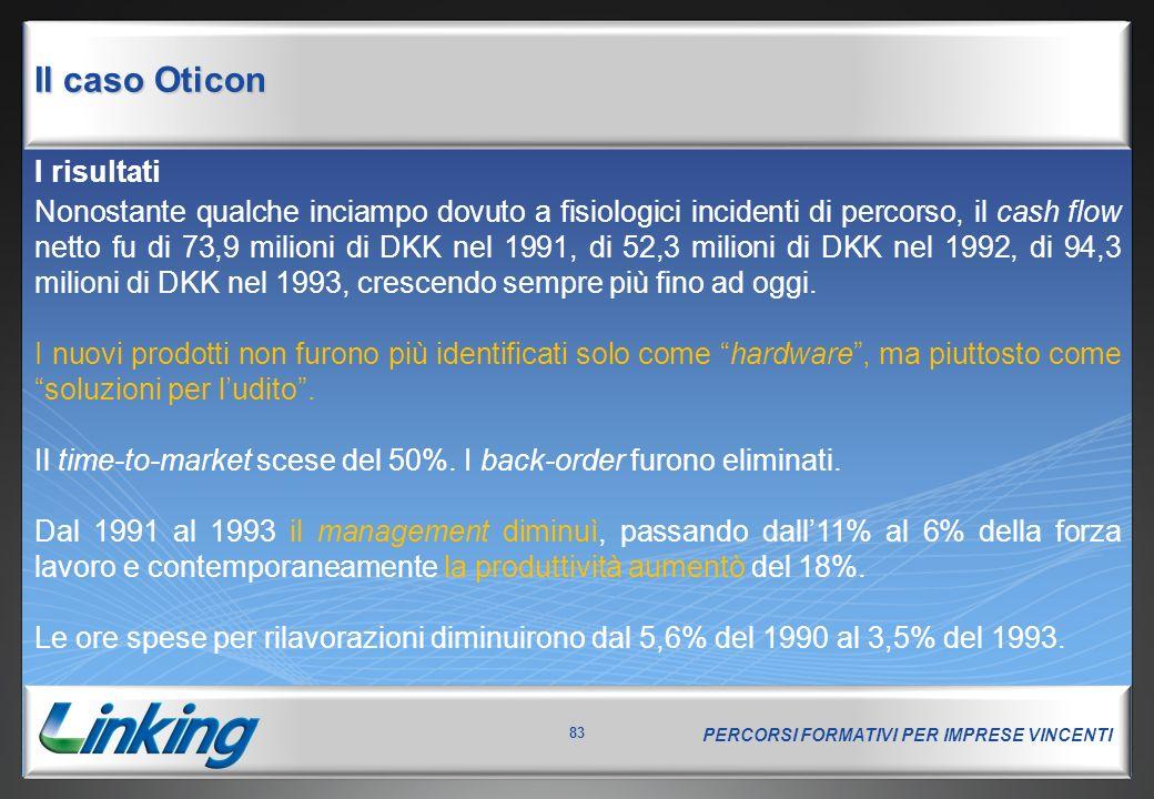 Il caso Oticon I risultati