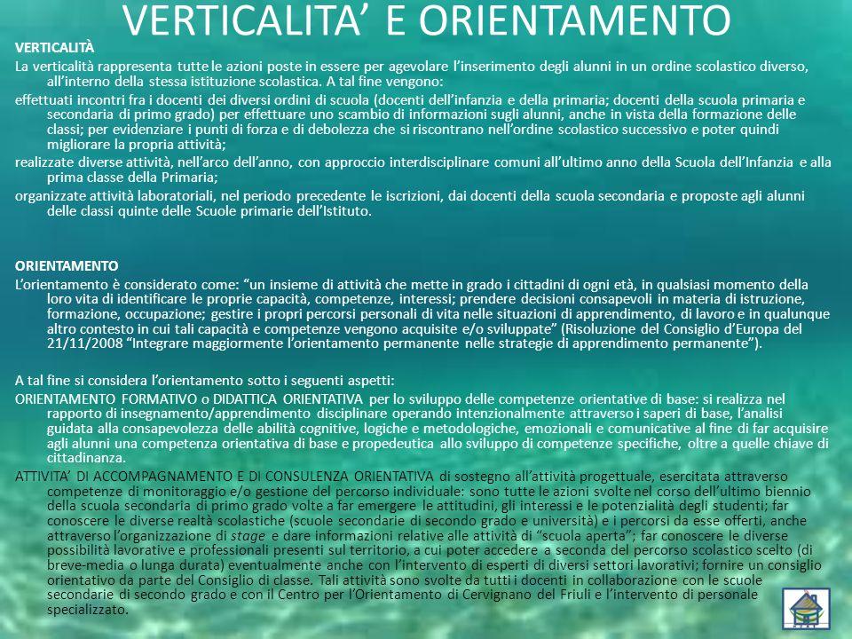 VERTICALITA' E ORIENTAMENTO