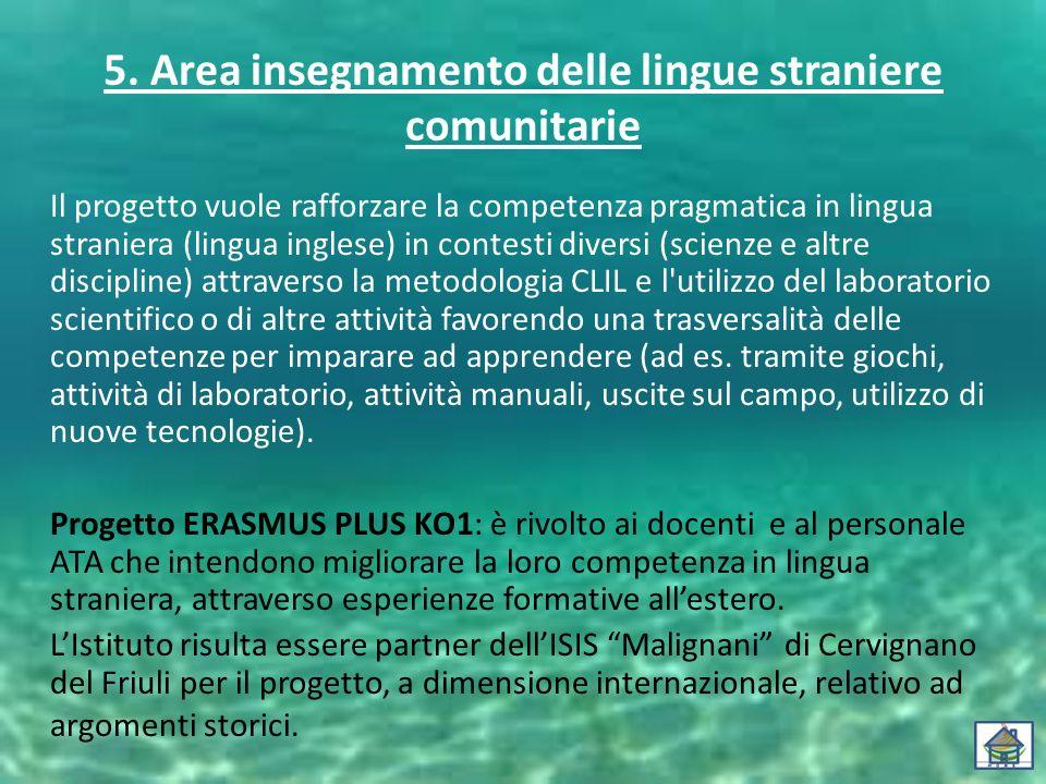 5. Area insegnamento delle lingue straniere comunitarie