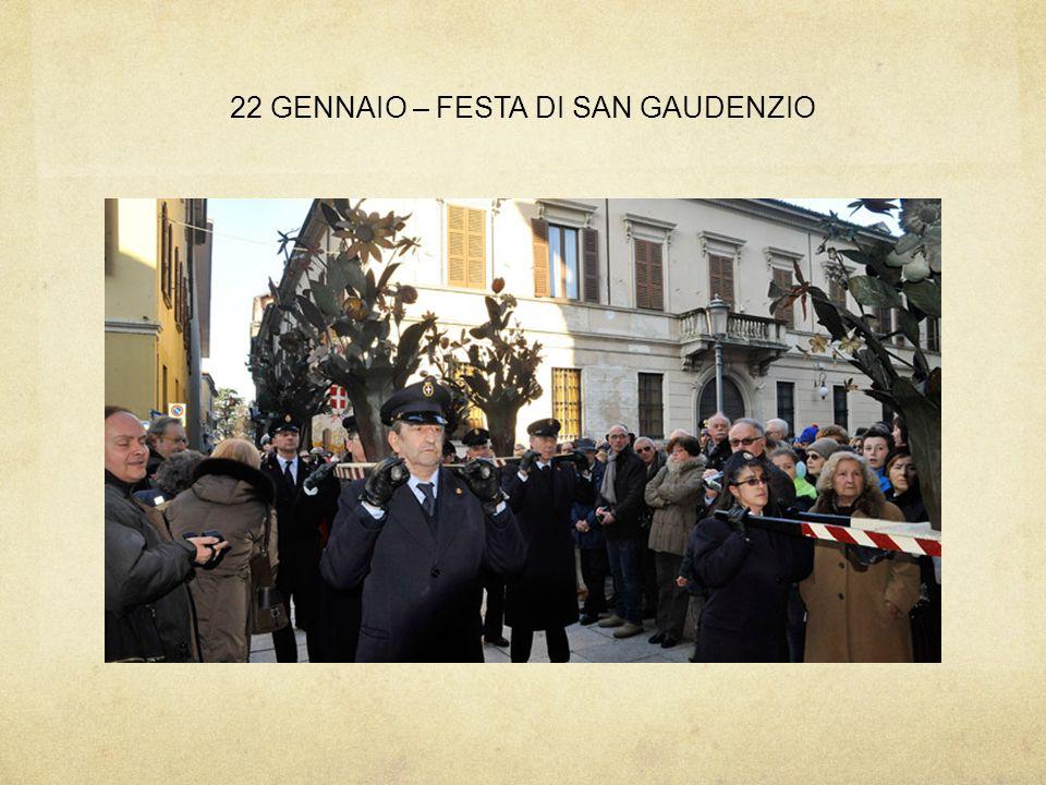 22 GENNAIO – FESTA DI SAN GAUDENZIO