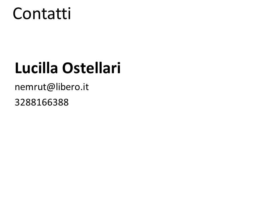 Contatti Lucilla Ostellari nemrut@libero.it 3288166388