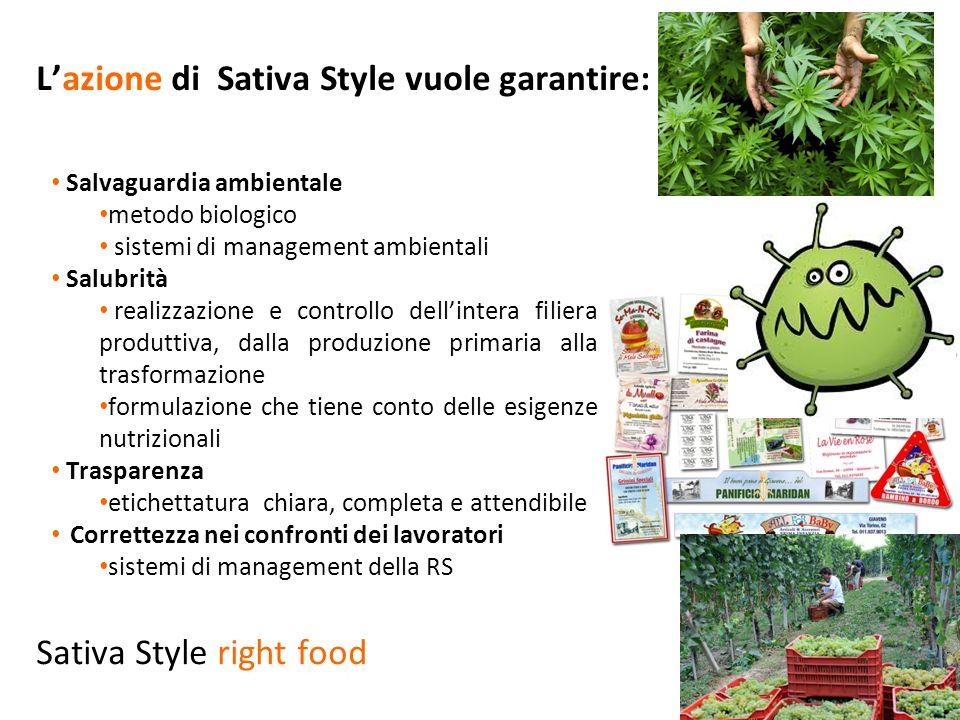 L'azione di Sativa Style vuole garantire: