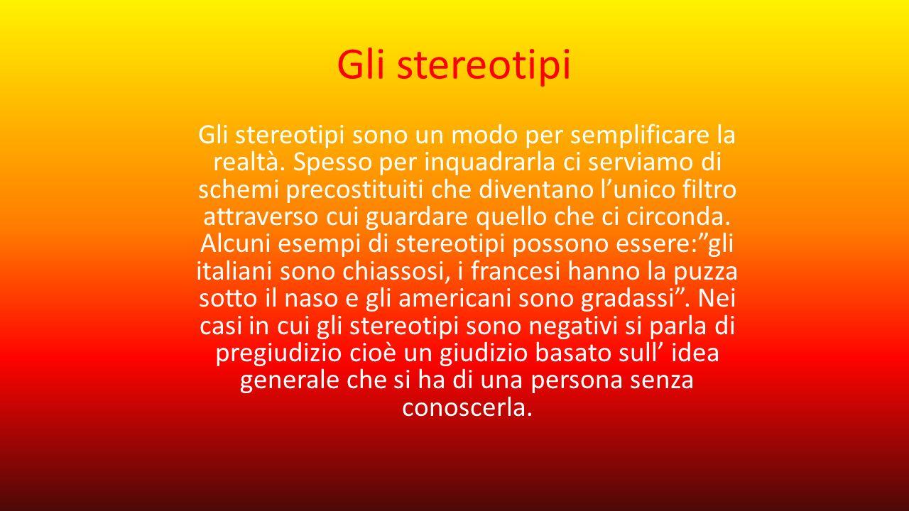 Gli stereotipi