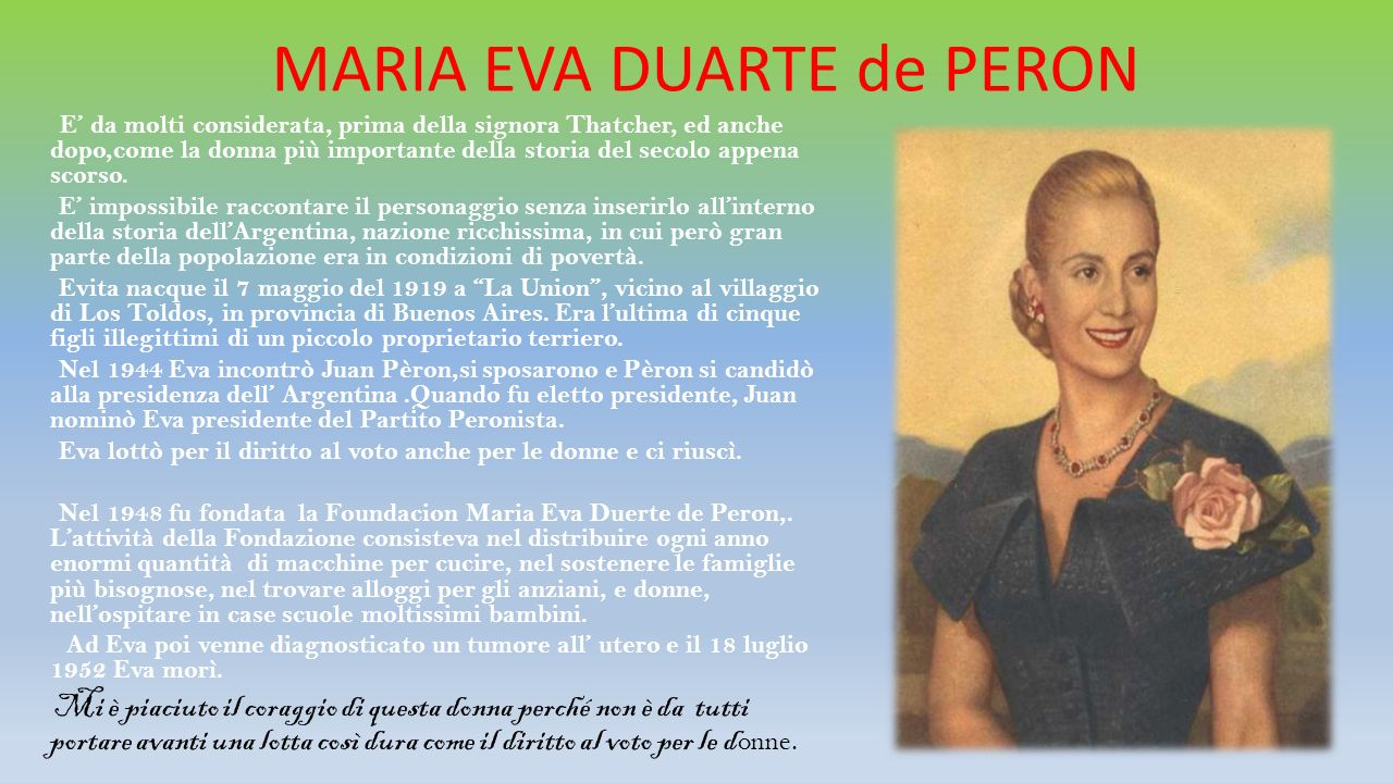 MARIA EVA DUARTE de PERON
