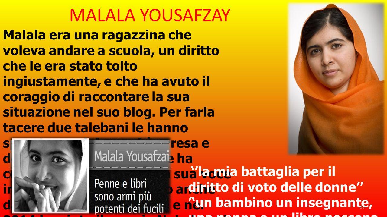 MALALA YOUSAFZAY