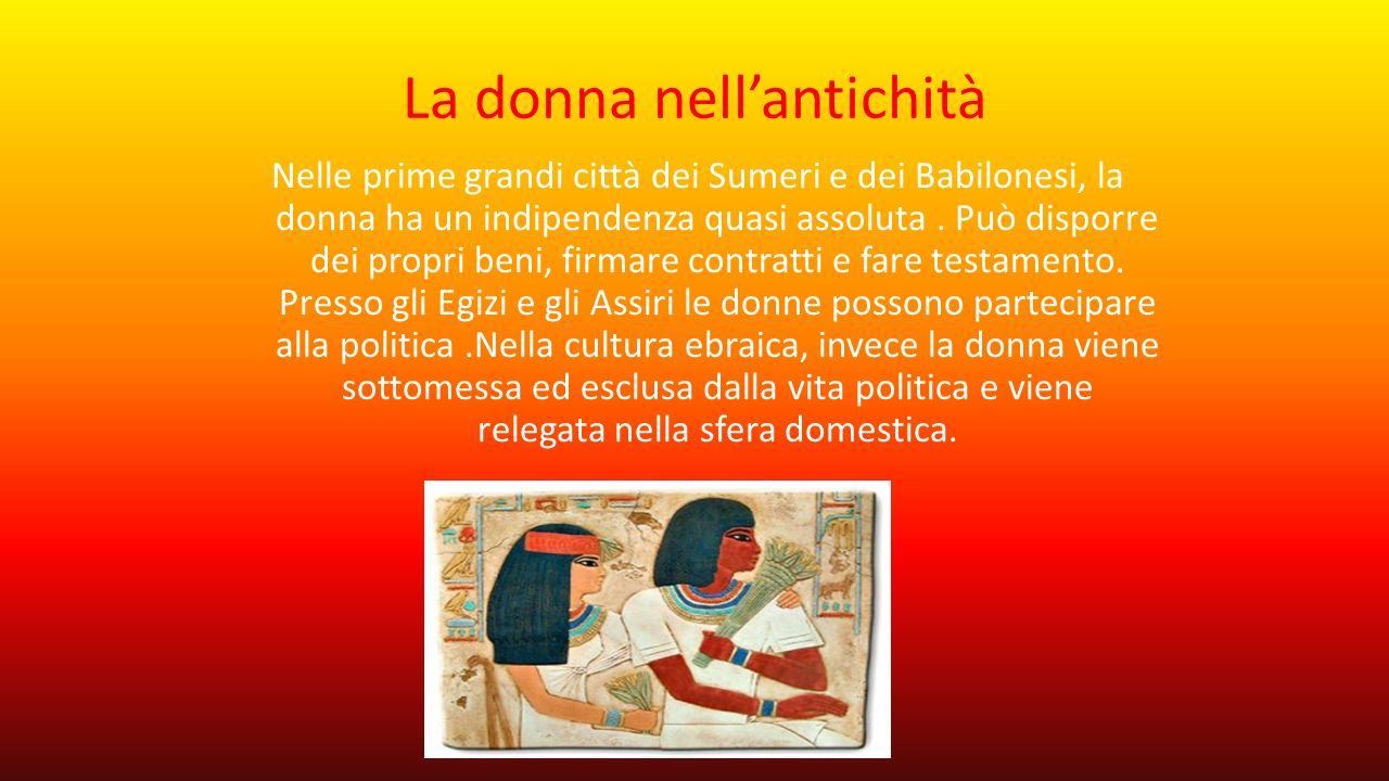 La donna nell'antichità