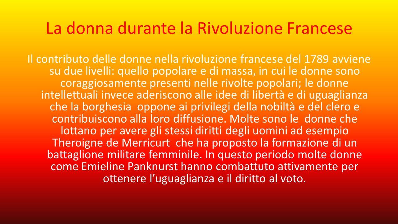 La donna durante la Rivoluzione Francese